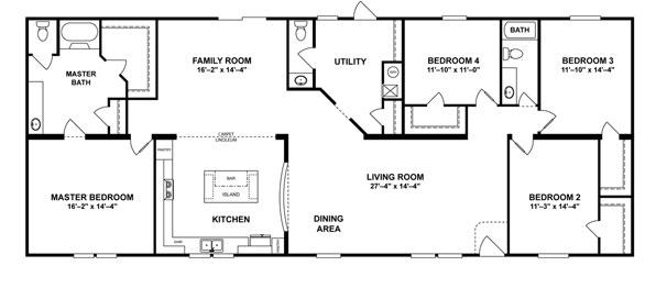 Double Wide 4 Bedroom On Sale