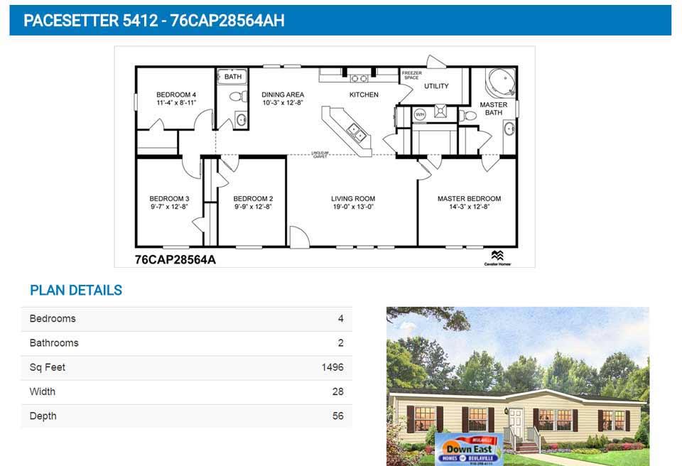 Best Cavalier Homes Floor Plans Contemporary Flooring