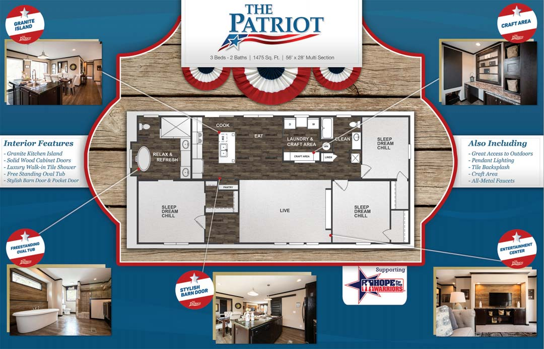 The Patriot from Clayton Homes - Down East Homes of