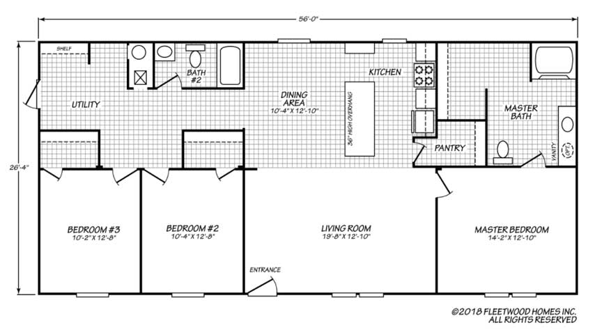 Pure Floor Plan - Fleetwood Homes