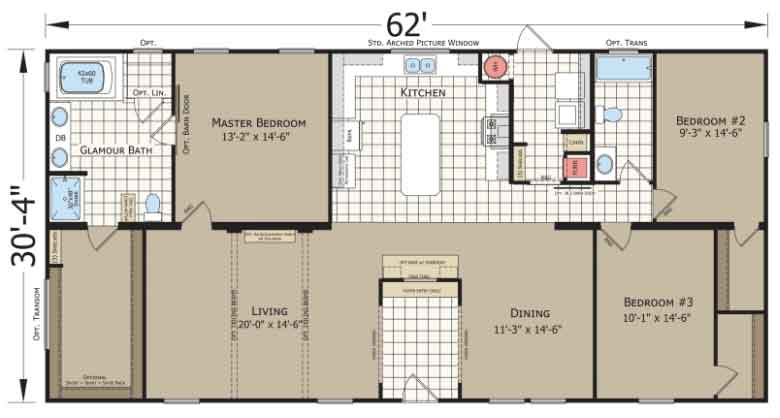 Silver Birch Champion Homes Floor Plan