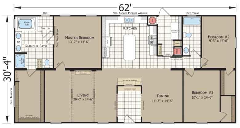 Silver Birch Champion Homes Floor Plan