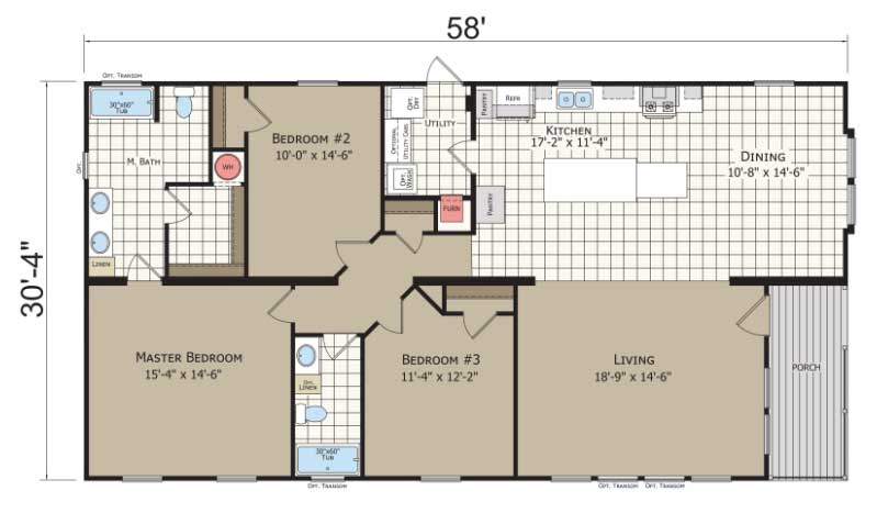 Alder Floor Plan - Narrow Lot