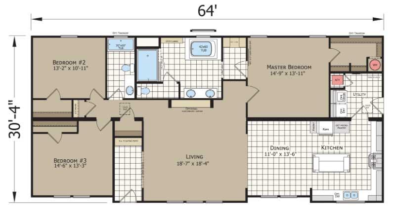 Mountain Ash Floor Plan - Beulaville NC