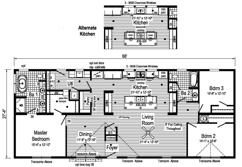 Supreme 2 floor plan - Down East Homes NC