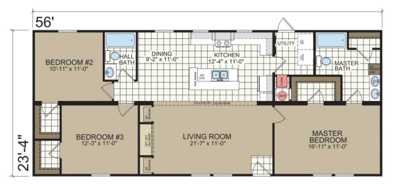 Hanover Floor Plan - Champion Homes