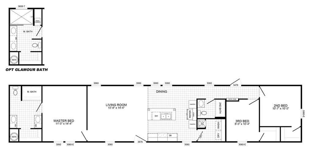 Pacesetter 2370 Floor Plan - Beulaville