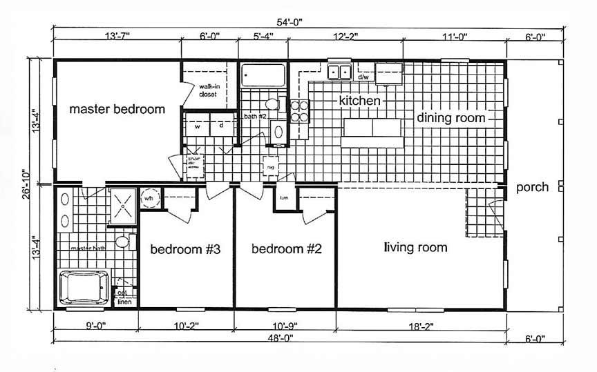 Narrow Lot Modular floor plan - Beulaville NC