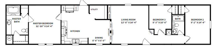 Platinum 2305 Floor Plan - Beulaville NC