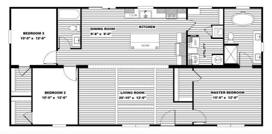 Nxt Floor Plan Double Wide