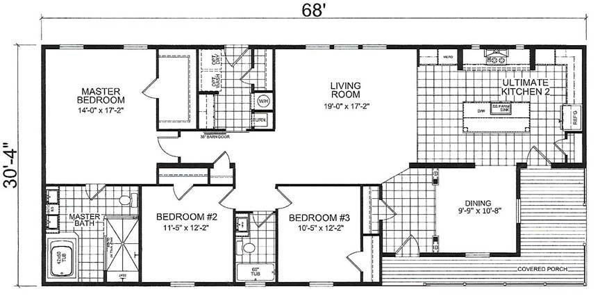 Scarlett Floor Plan - Down East Homes of Beulaville