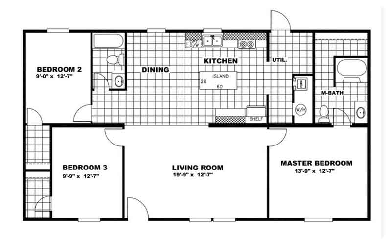 Tru Homes - Satisfaction floor plan - 1315 sq. ft.
