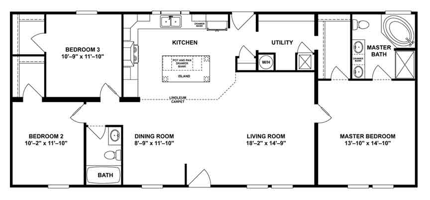 Intimidator 1450 sq. ft. floor plan Beulaville NC