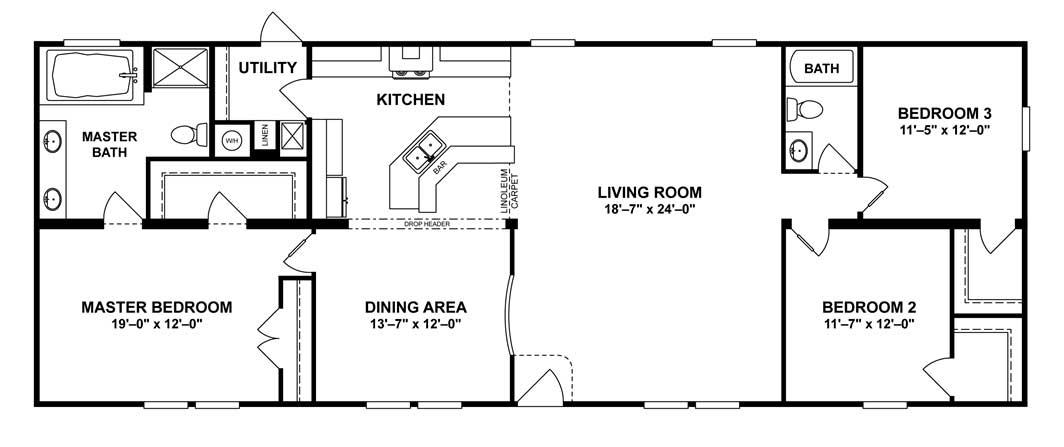 Intimidator Floor Plan - Down East Homes of Beulaville
