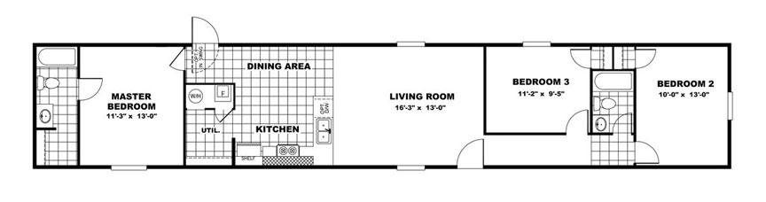 Glory Single Wide Floor Plan