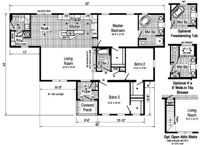Oakmont - R-Anell Homes - Floor Plan - Down East Homes NC