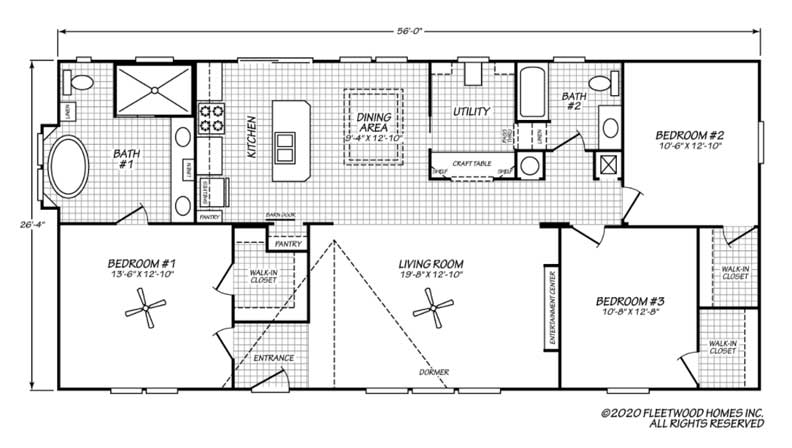 Freedom Floor Plan - Beulaville NC